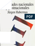Identidades Nacionales y Postnacionales (Jurgen Habermas)
