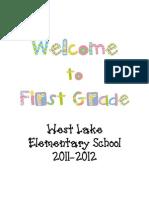 2011-2012 First Grade Handbook
