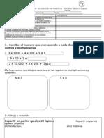 prueba de matematicas junio 3°
