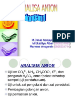 Pemisahan Anion