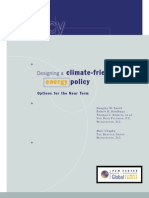 Designing a climate-friendly energy policy