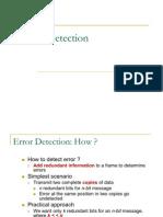 Lecture10 Error Detection