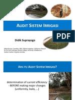 Audit Sistem Irrigasi K2