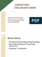 Aspek Hukum Dan Legalitas Dalam Usaha_ne_lk_2010-2011
