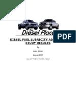 Diesel Fuel Additive Test