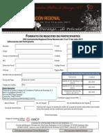 Formato de Registro Para Participantes Durango 2011