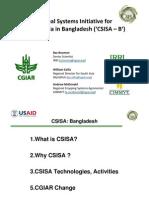 Presentation on CSISA-B for Wiki
