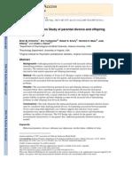 A Children of Twins Study of parental divorce and offspring psychopathology
