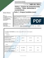 NBR ISO 07823-1 - 2002 - Plastico - Chapas de Poli