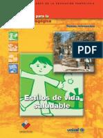 Cuadernillos Para La Reflexion Pedagogic A Estilos de Vida Saludable