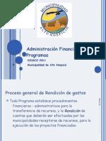 Administración Financiera de Programas