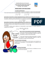 Guía de Operaciones con Fracciones