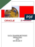 Data Transfer - Primavera to MSproject