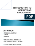 Chapt 1 - Introduction to Operations Management