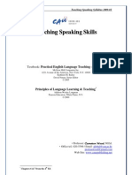 Teaching Speaking Course Outline 2009-01