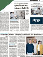 Nasce il centro regionale amianto con il microscopio donato da Grillo - Il Resto del Carlino dell'11 giugno 2011