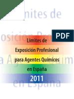 Limites de exposición profesional para agentes quimicos en España 2011