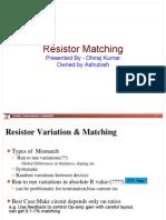 Resistor Matching 1