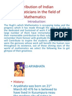 Contribution of Indian Mathematicians in the Field Of