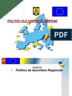 Curs 10 - Politica Regionala a U. E.
