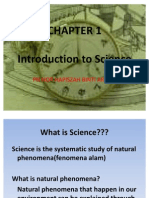 Chapter 1 Introduction to science