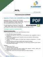 KLEEMANN NewsFax/Mail 06/11 (english version)