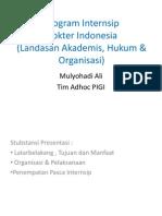 Program Internsip Dokter Indonesia Landasan Hukum & Org,Prof Mul