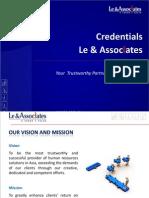 Le & Associates (L&A) Credentials 2011 (English)