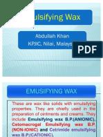 Emulsifying Wax PPT