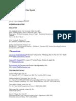 Academic Curriculum Vitae Sample