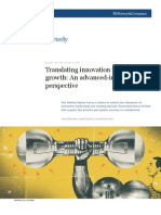 Translating Innovation Into US Growth - An Advanced Industry Perspective