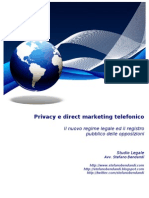 Privacy e direct marketing telefonico