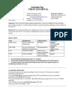 Vikas Aggarwal's CV