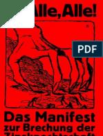 Feder Gottfried Das Manifest Zur Brechung Der Zinsknechtschaft Des Geldes 1919 62 S.