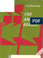 For & Against by L.G. Alexander