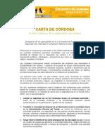 CARTA DE CORDOBA
