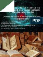 Garritz Ciencia en Una Sociedad Con Incertidumbre