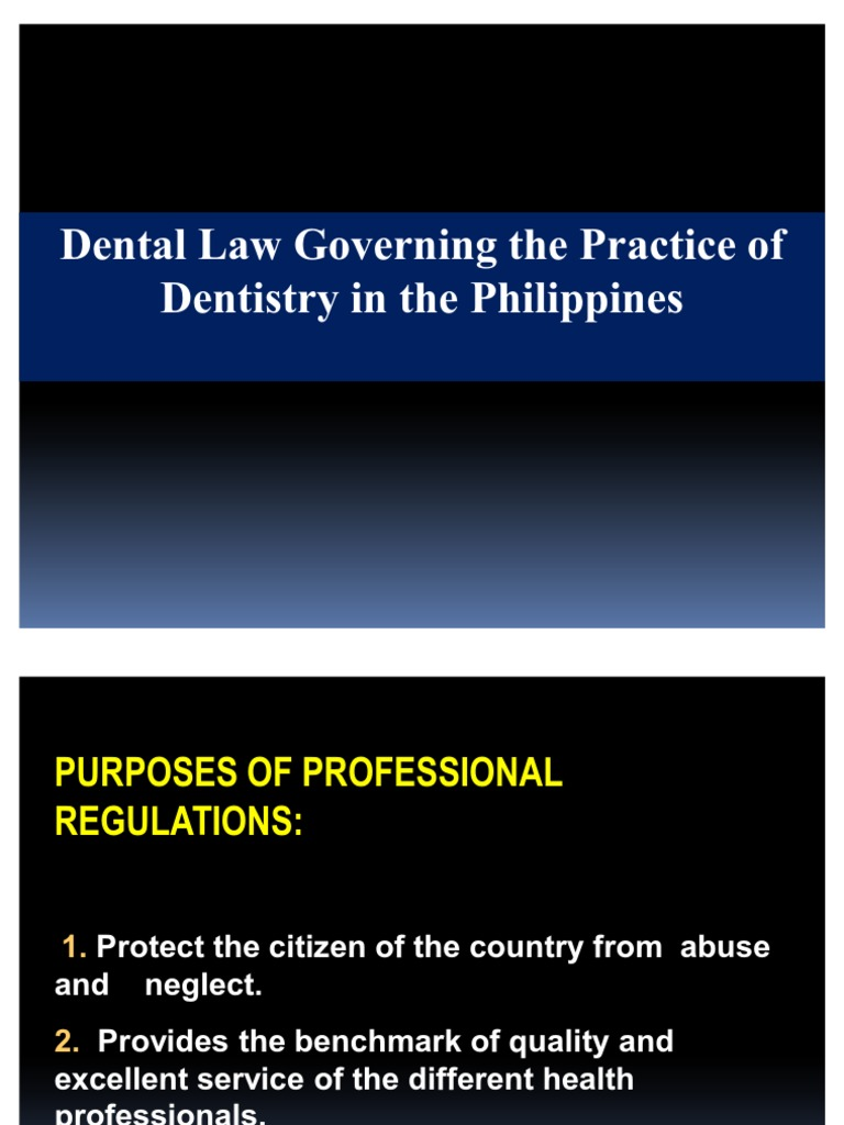 Dental law in the philippines presentation final dentist dentistry fandeluxe Gallery