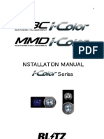 Blitz I-Color Installation Manual