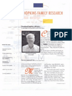 Genealogy Y2003 Y2004 Newsletter Family History Biography Obituary Cleveland Hopkins