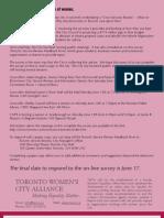 Toronto Women Respond to Core Service Review