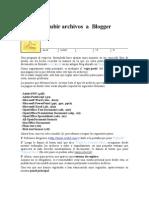 Guía para subir archivos  a Blogger