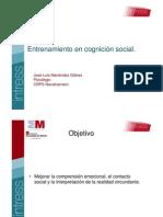 Entrenamiento en cognición social