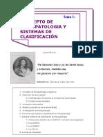 Tema 1- Concepto de psicopatología y conceptos de clasificación
