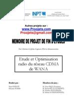 Etude et Optimisation radio du réseau CDMA de WANA