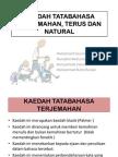 5. Kaedah Natural, Terus Dan a Terjemahan