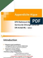 Appendicite Aigue 2011