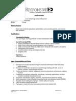 Campus Director - Job Description June 2011