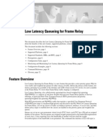 Low Latency Queueing 4 Frmrelay