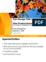 Sun Storage 7000 Update